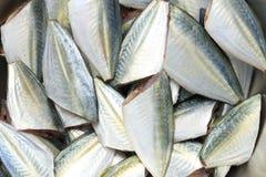 未加工的大眼鲷或成份trevally暗淡的起重器鱼cookin的 免版税库存图片