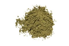 未加工的大麻蛋白质 免版税库存图片