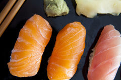未加工的寿司 免版税库存照片