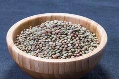 未加工的扁豆 免版税库存照片