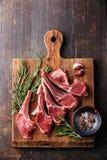 未加工的新鲜的羊羔肉肋骨 免版税库存图片