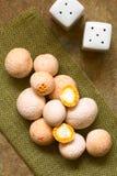 未加工的智利人Pinatra或Diguene可食的蘑菇 免版税图库摄影