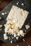 未加工的有机白色希腊白软干酪 图库摄影