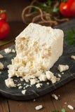 未加工的有机白色希腊白软干酪 免版税图库摄影