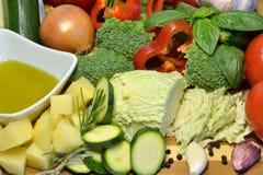 未加工的有机菜,健康饮食食物 免版税库存图片