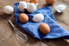 未加工的有机鸡蛋 库存照片