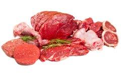 未加工的混合肉 库存照片
