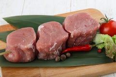 未加工的猪肉小腓厉牛排 免版税库存照片
