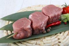 未加工的猪肉小腓厉牛排 库存图片