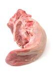未加工的猪肉舌头 免版税库存图片