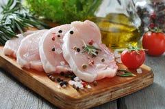 未加工的猪肉 免版税库存照片