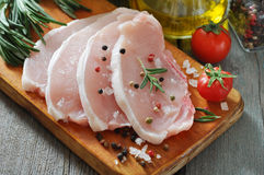 未加工的猪肉 免版税库存图片