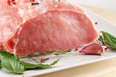 未加工的猪肉 库存照片