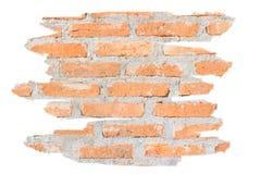 未加工的砖墙背景  免版税库存照片