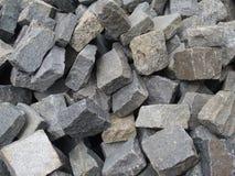 未加工的花岗岩石头 免版税图库摄影