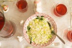 未加工的芹菜沙拉 免版税库存照片
