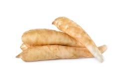未加工的葛粉或maranta在白色背景 图库摄影