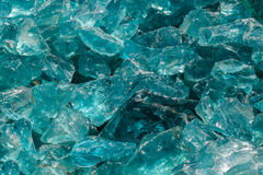 未加工的蓝色玻璃 图库摄影
