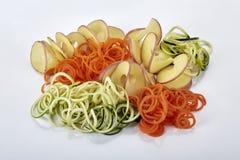 未加工的蔬菜螺旋面条 免版税库存照片