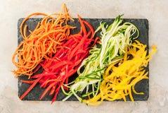 未加工的蔬菜面条 免版税库存照片