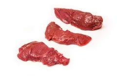 未加工的袋鼠肉,被隔绝 免版税库存照片