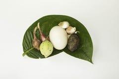 未加工的食物泰国 免版税库存照片