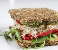 未加工的食物-三明治 免版税库存照片