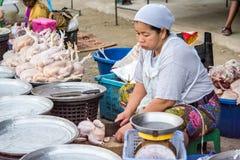 未加工的鸡商店 免版税库存图片