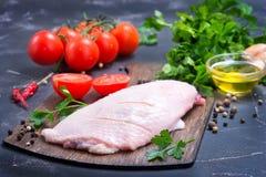未加工的鸭子肉 免版税图库摄影