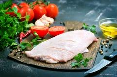 未加工的鸭子肉 免版税库存照片