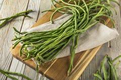 未加工的绿色有机中国长的豆 库存图片