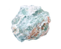 未加工的绿色荧石自然大块 库存照片