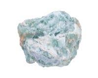 未加工的绿色荧石自然大块 免版税图库摄影
