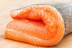 未加工鳟鱼的内圆角 库存照片