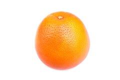 未加工,水多和成熟桔子的特写镜头图片,隔绝在白色背景 成熟的柑橘水果 免版税库存照片