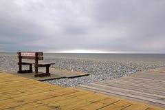未加监督的海滩,北部的Hauts de法国,法国 库存图片