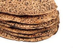 未发酵的面包堆 图库摄影