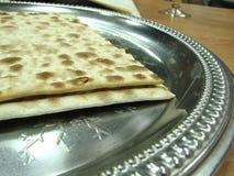未发酵的面包牌照银 免版税库存图片