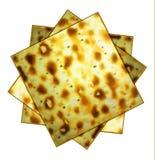 未发酵的面包 Matsa 逾越节matzah 逾越节宴餐  犹太逾越节 在被隔绝的背景的传染媒介例证 库存例证