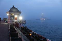 未婚塔在Bosphorus海峡,伊斯坦布尔 库存图片