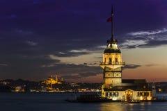 未婚塔,伊斯坦布尔 免版税库存图片