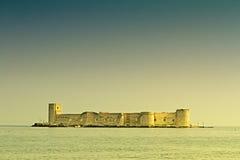 未婚的城堡(Kizkalesi), Mersin,土耳其 免版税库存照片