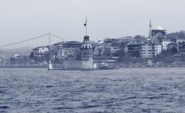 未婚的塔(Kiz Kulesi) 免版税库存图片