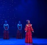 未婚的女性中国民间舞 图库摄影