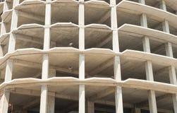 未完成和空的建造场所 免版税库存照片
