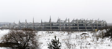 未完成和被放弃的体育场 免版税图库摄影