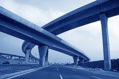 未完成特写镜头的天桥 免版税图库摄影