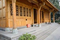 未完成的中国传统建筑 免版税库存照片