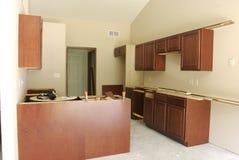 未完成的厨房 免版税库存照片