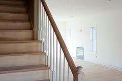 未完成的台阶回家内部 免版税库存图片